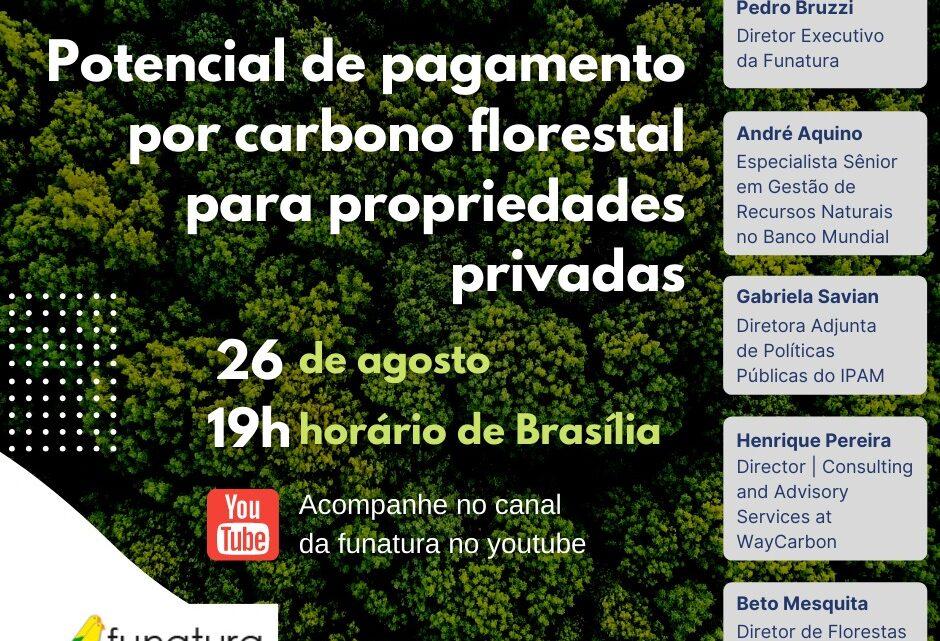 Oficina Virtual debate potencial de pagamento por carbono florestal para propriedades privadas